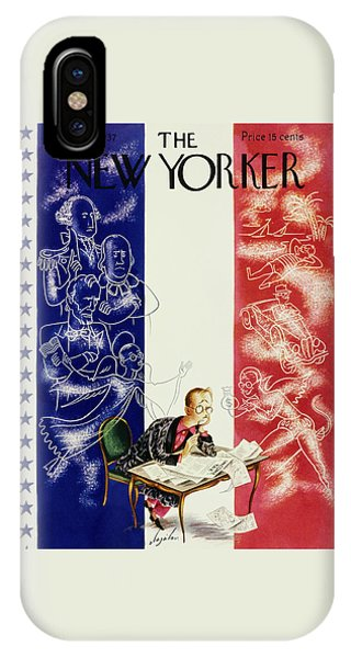 Magazine Cover iPhone Case - New Yorker March 13 1937 by Constantin Alajalov