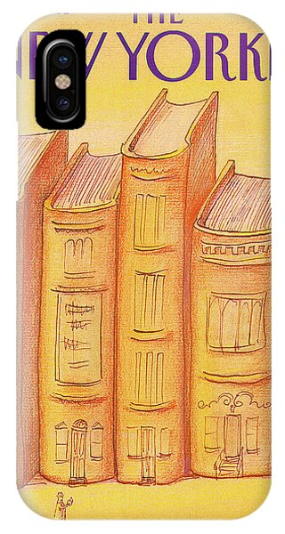 Brownstone iPhone Case - New Yorker March 15th, 1982 by Eugene Mihaesco