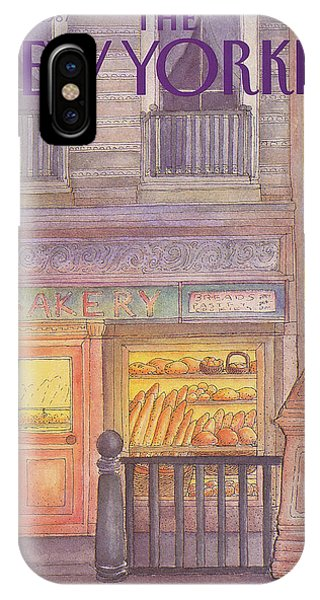 Brownstone iPhone Case - New Yorker March 30th, 1987 by Iris VanRynbach