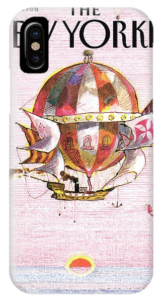 Hot Air Balloons iPhone Case - New Yorker March 31st, 1986 by Andrej Czeczot