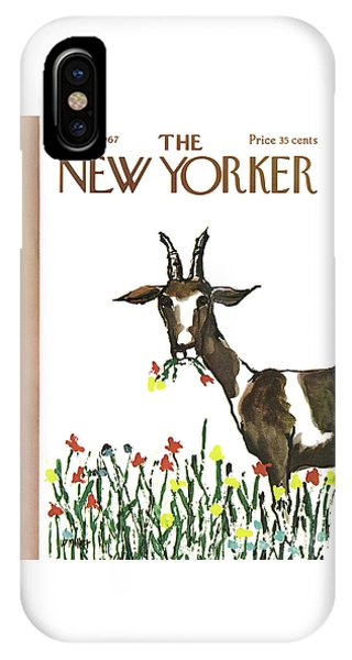 Goat iPhone Case - New Yorker May 13th, 1967 by Warren Miller