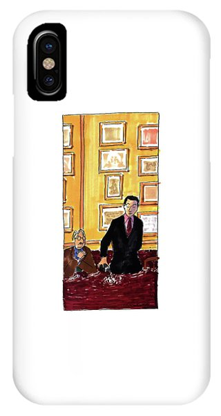 Wine Pouring iPhone Case - New Yorker May 16th, 1994 by Michael Crawford