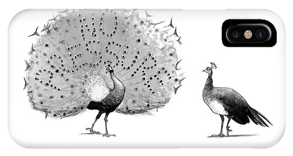 Peafowl iPhone Case - New Yorker May 8th, 2017 by Will McPhail