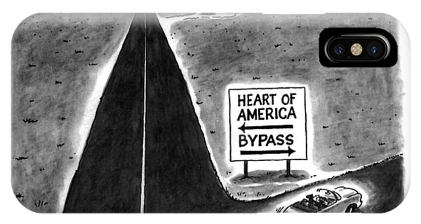 Highway iPhone Case - New Yorker May 9th, 1994 by Frank Cotham