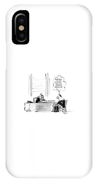 Debts iPhone Case - New Yorker November 10th, 1986 by Lee Lorenz