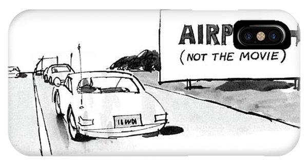 Highway iPhone Case - New Yorker November 10th, 1986 by Mischa Richter
