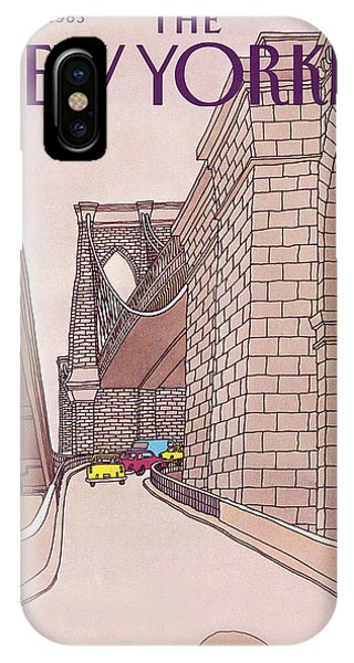 New York City Taxi iPhone Case - New Yorker November 14th, 1983 by Roxie Munro
