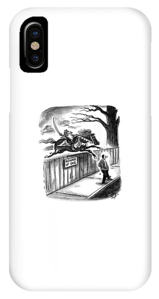Sign iPhone Case - New Yorker November 14th, 1994 by Frank Cotham