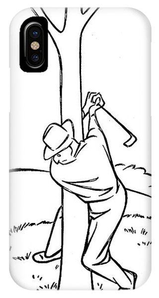 Golf Ball iPhone Case - New Yorker November 19th, 1949 by George Price