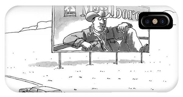 Highway iPhone Case - New Yorker November 23rd, 1998 by Jack Ziegler