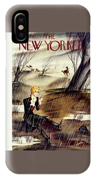 Magazine Cover iPhone Case - New Yorker November 28 1936 by Constantin Alajalov