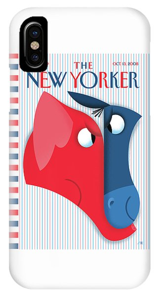 Election iPhone Case - New Yorker October 13th, 2008 by Bob Staake