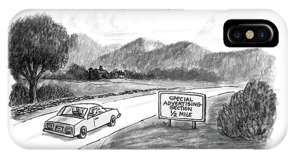 Highway iPhone Case - New Yorker October 20th, 1986 by Warren Miller