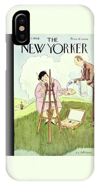 Representation iPhone Case - New Yorker September 1 1928 by Helene E. Hokinson