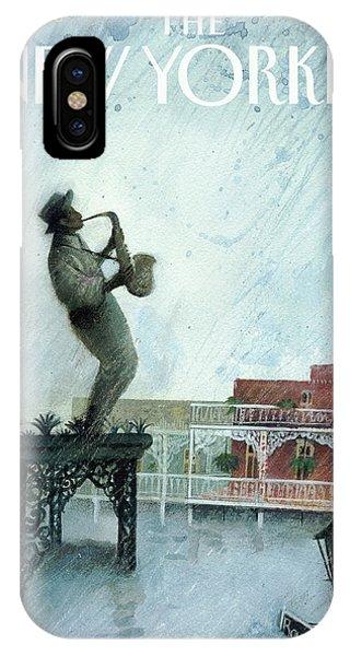 Katrina iPhone Case - New Yorker September 12th, 2005 by Ana Juan