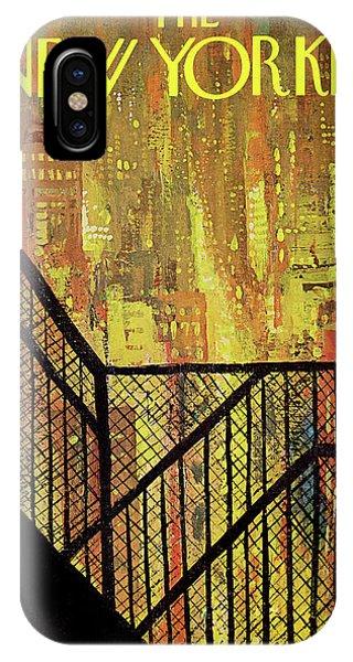 Manhattan Skyline iPhone Case - New Yorker September 21st, 1968 by Arthur Getz