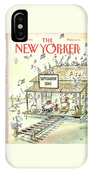 Porch iPhone Case - New Yorker September 23rd, 1991 by George Booth
