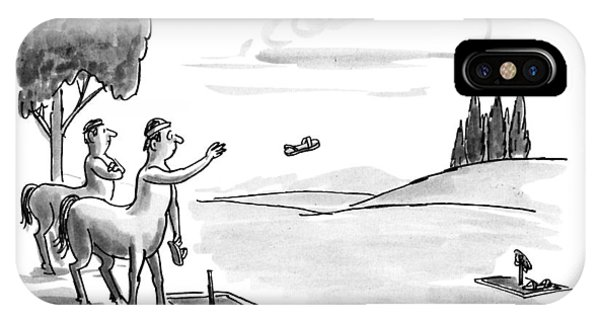 Centaur iPhone Case - New Yorker September 24th, 1990 by Warren Miller