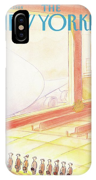 Commute iPhone Case - New Yorker September 3rd, 1984 by Jean-Jacques Sempe