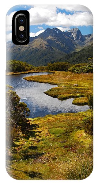 IPhone Case featuring the photograph New Zealand Alpine Landscape by Cascade Colors