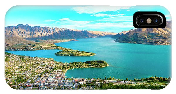Aerial iPhone Case - New Zealand, South Island, View Towards by Miva Stock