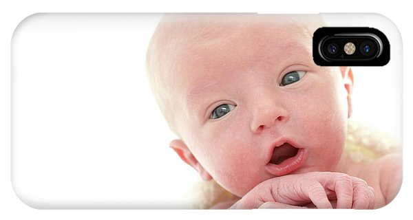 0 iPhone Case - Newborn Baby Boy by Ruth Jenkinson/science Photo Library