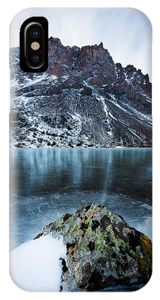 IPhone Case featuring the photograph Frozen Mountain Lake by Tim Newton