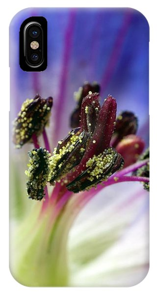 Hybrid iPhone Case - Newly Open Flower Of Geranium \rozanne\ by Dr Jeremy Burgess/science Photo Library