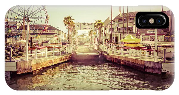 Newport Beach Balboa Island Ferry Dock Photo IPhone Case