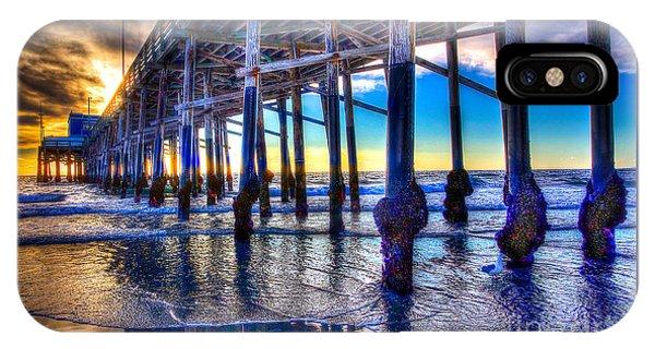 Newport Beach Pier - Low Tide IPhone Case