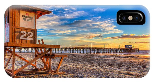 Pacific Ocean iPhone Case - Newport Beach Pier - Wintertime  by Jim Carrell