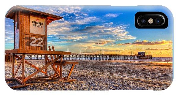 Newport Beach Pier - Wintertime  IPhone Case
