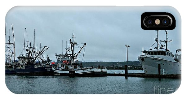 Newport Fishing Boats IPhone Case