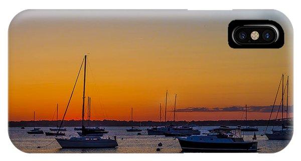 Newport Ri Sunset Phone Case by Sean Mackie
