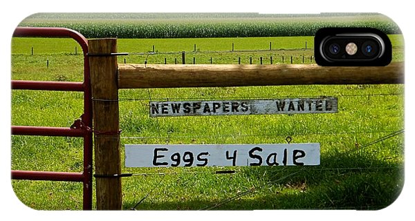 Newspapers Wanted Eggs 4 Sale IPhone Case