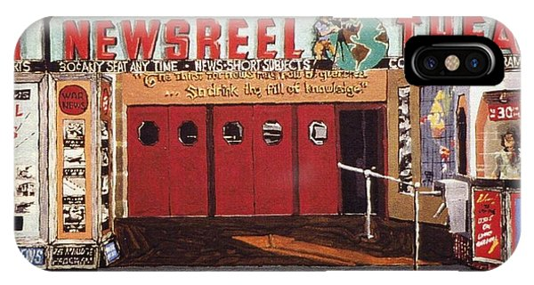 Newsreel Theatre Phone Case by Paul Guyer