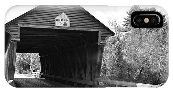 Nh Covered Bridge IPhone Case