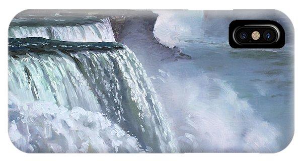 Waterfall iPhone Case - Niagara American Falls by Ylli Haruni