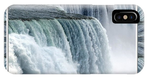 Niagara Falls American Side Closeup With Warp Frame IPhone Case
