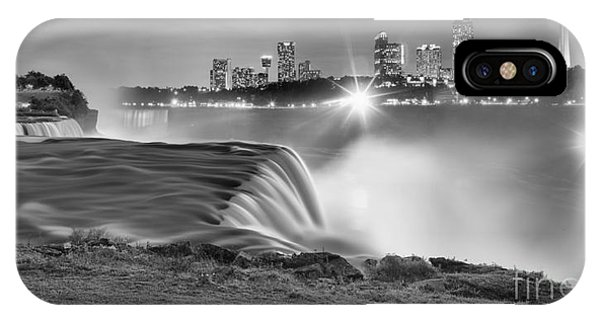 Niagara Falls Black And White Starbursts IPhone Case