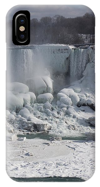 Niagara Falls Ice Buildup - American Falls New York State U S A IPhone Case