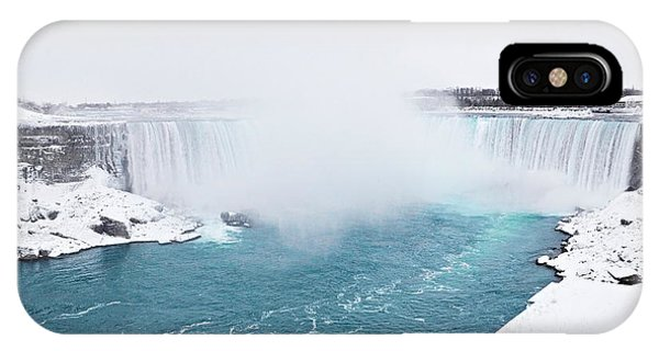 Niagara Falls Misty Winter Wonderland IPhone Case