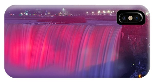 Niagara Falls Pretty In Pink Lights. IPhone Case