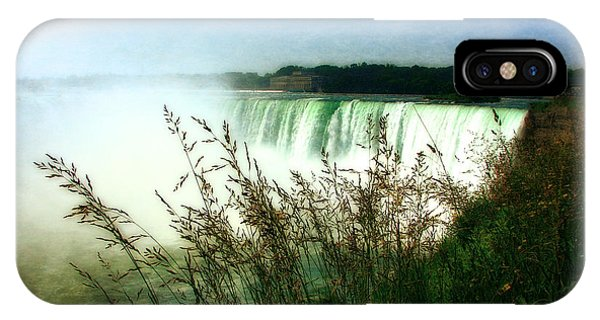 Niagara Falls With Grasses IPhone Case