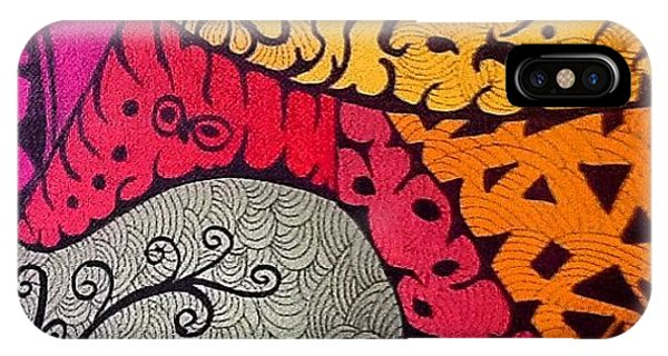 iPhone Case - Nice Colors In A Doodling Designs I by Sandra Lira