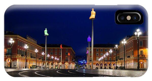 Nice France - Place Massena Blue Hour  IPhone Case