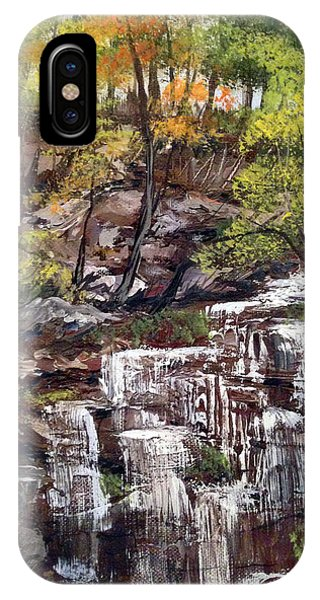 Nice Waterfall In The Forest IPhone Case
