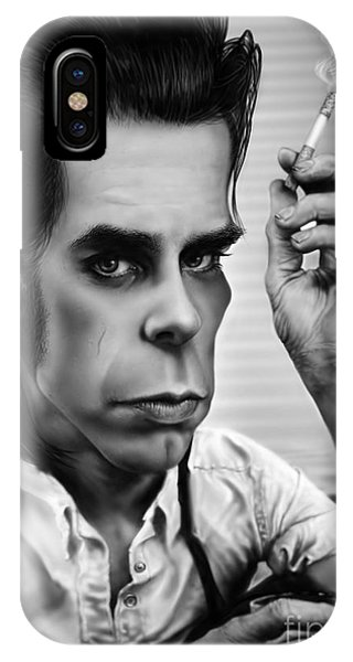 Caricature iPhone Case - Nick Cave by Andre Koekemoer
