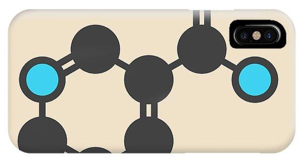 Nicotinamide Drug And Vitamin Molecule IPhone Case