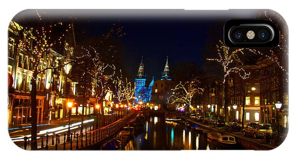 Nieuwe Spieglestraat At Night IPhone Case